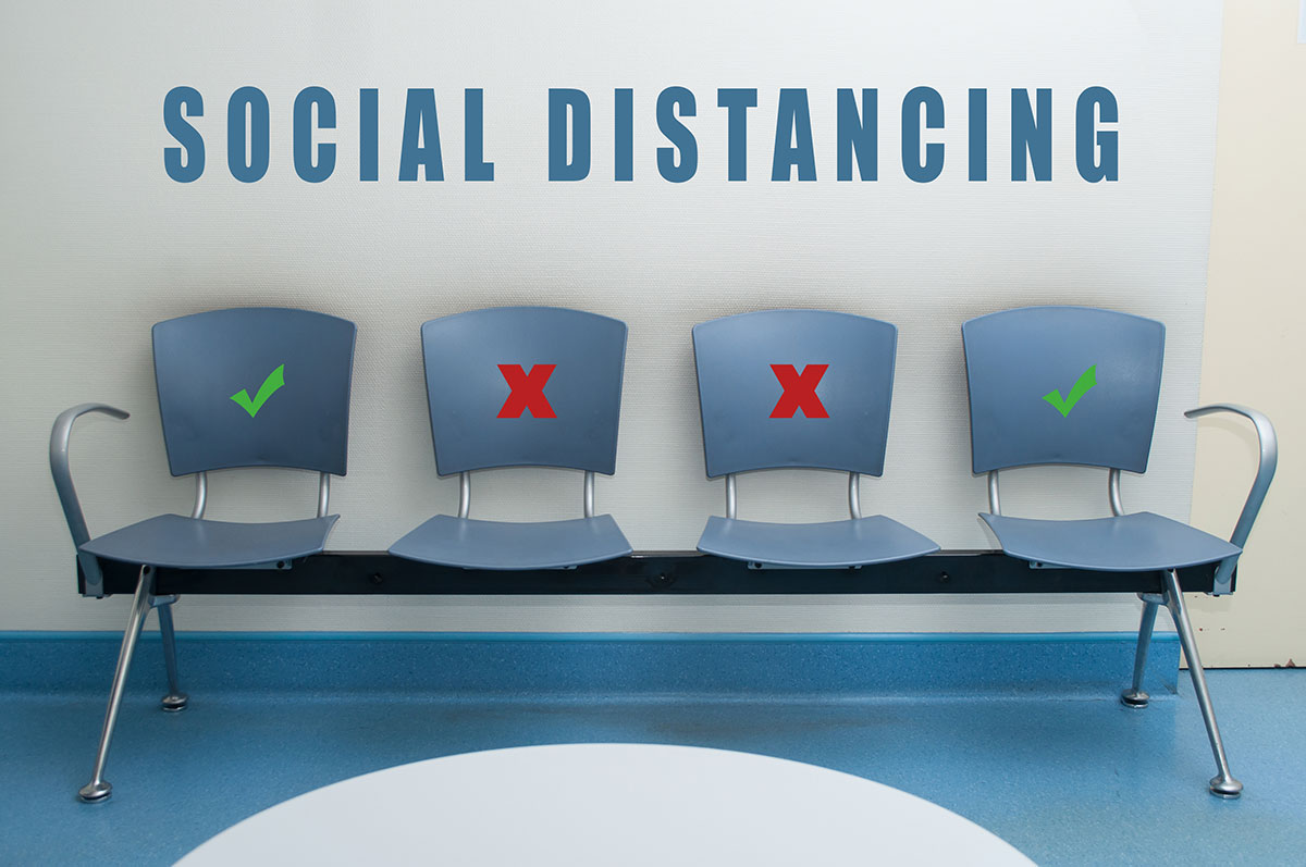 A New Kind of Doctor Waiting Room with Social Distancing